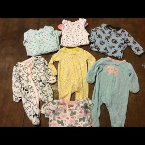 Carter's Newborn Footies with Mit Covers